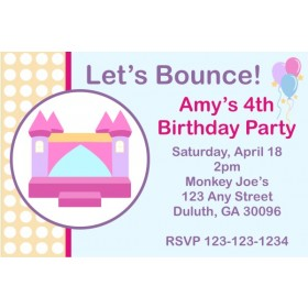 Bounce House / Castle Invitation