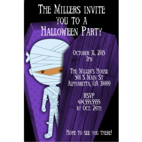 Kid Mummy Halloween Party Invitation