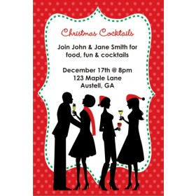 Cocktail Mingle Holiday Christmas Party Invitation
