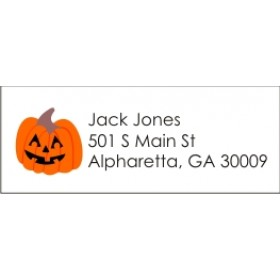 Halloween Jack O'Lantern Pumpkin Return Address Labels