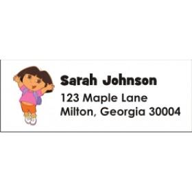 Dora the Explorer Return Address Labels
