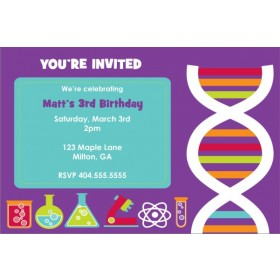 Monster Science Invitation - DNA