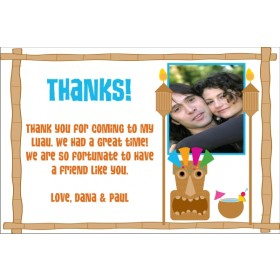 Luau Thank You Card