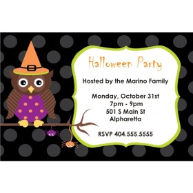 Spooky Owl Halloween Party Invitation