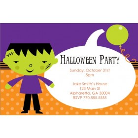 Kid Frankenstein Halloween Party Invitation