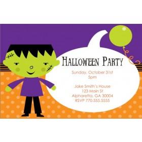 Kid Frankenstein Halloween Party Invitation