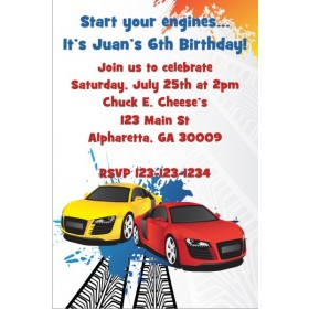 Race Car Invitation - Sporty Racers