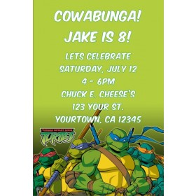 Teenage Mutant Ninja Turtles Invitation  - TMNT Turtle Power