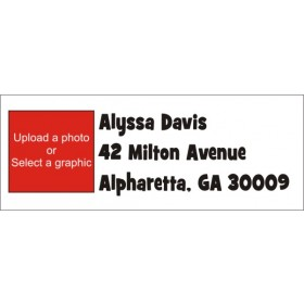 Photo Return Address Labels - FONT 1