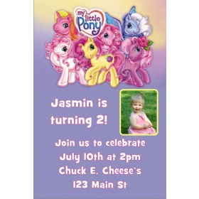 My Little Pony Photo Invitation