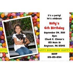 Jelly Beans Photo Invitation