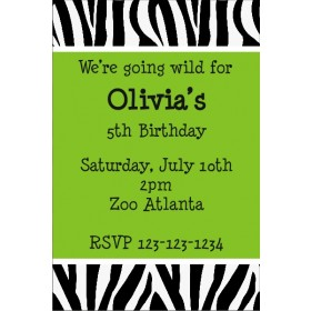 Zebra Animal Print Invitation 2 (ALL COLORS)