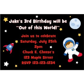 Space Invitations (Customizable boy or girl)