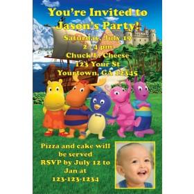 Backyardigans Photo Invitations