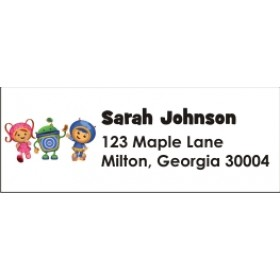 Team Umizoomi Return Address Labels