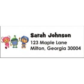 Team Umizoomi Return Address Labels