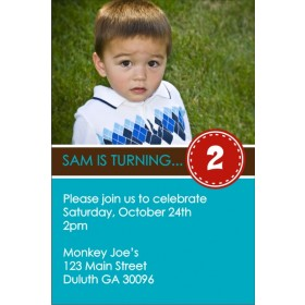 Teal Appeal Blue Photo Invitation