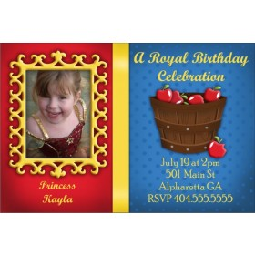 Snow White Mirror Mirror Photo Invitation
