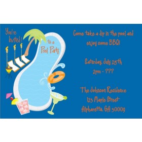 Pool Party Invitations 4