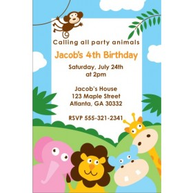 Party Animals Invitation