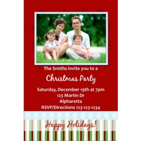 Christmas / Holiday Party Photo Invitation