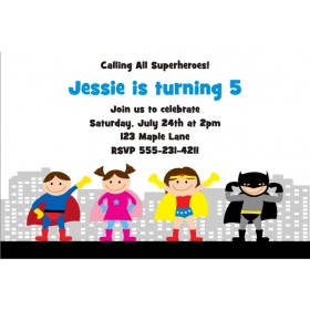 Superhero Birthday Invitation 5