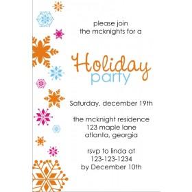 Colorful Snowflakes Invitation
