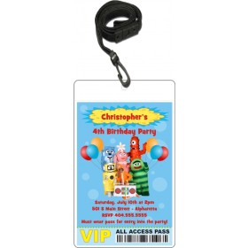 Yo Gabba Gabba VIP Pass Invitation with Lanyard
