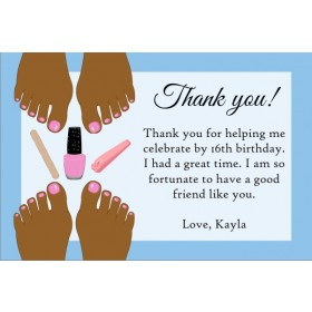 Pedicure Thank You Card - Brown Skin