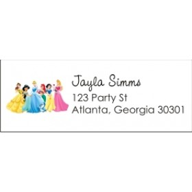 Disney Princess Return Address Labels