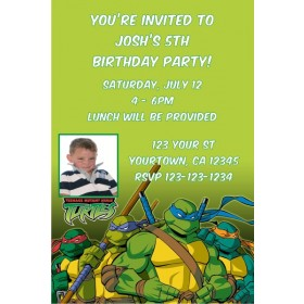 Teenage Mutant Ninja Turtles TMNT Photo Invitations