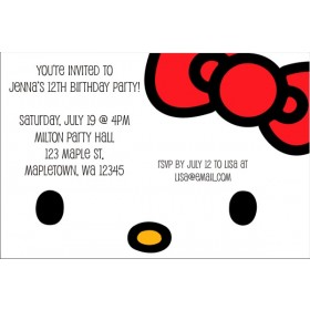 Hello Kitty Invitations - Classic Face