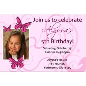 Butterfly Photo Invitations