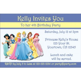 Princess Invitation - Lovely Blue