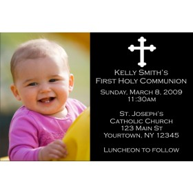 Communion / Baptism Photo Invitation