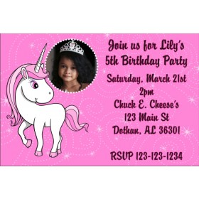 Unicorn Photo Invitation