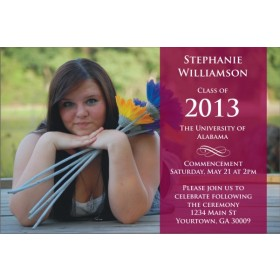 Grad on Display Graduation Photo Invitation / Announcement - ANY COLOR