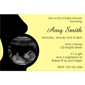 Baby Shower Invitation with Ultrasound Sonogram Photo ALL COLORS