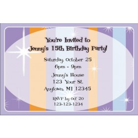 Retro Purple Invitations