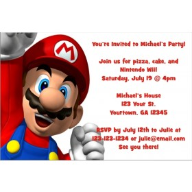 Super Mario Invitations
