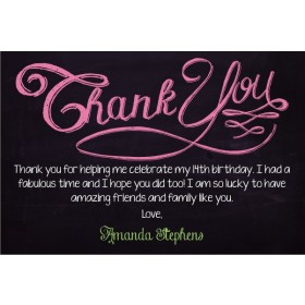 Chalkboard Style Thank You Card - Custom Colors