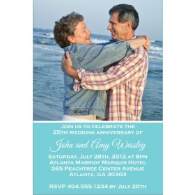Lasting Love Wedding Anniversary Photo Invitation - ALL COLORS