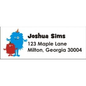 Little Monsters Return Address Labels