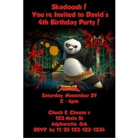 Kung Fu Panda Invitation