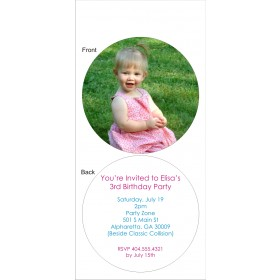 Photo Circle Die-Cut Invitation