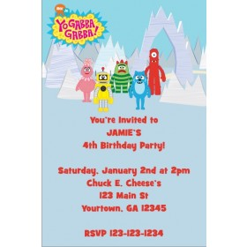 Yo Gabba Gabba Invitation