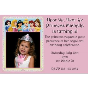 Princess Photo Invitation 3