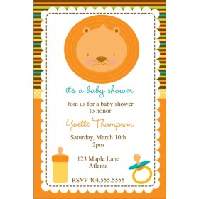 Baby Lion Baby Shower Invitation