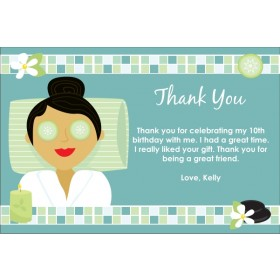 Spa Day Thank You Cards - Choose Skin Tone / Hair color