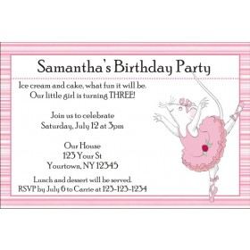 Angelina Ballerina Invitations